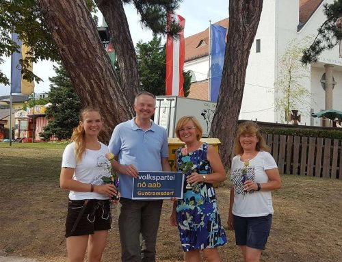 NÖAAB Guntramsdorf Vorstandssitzung beim Weinfest